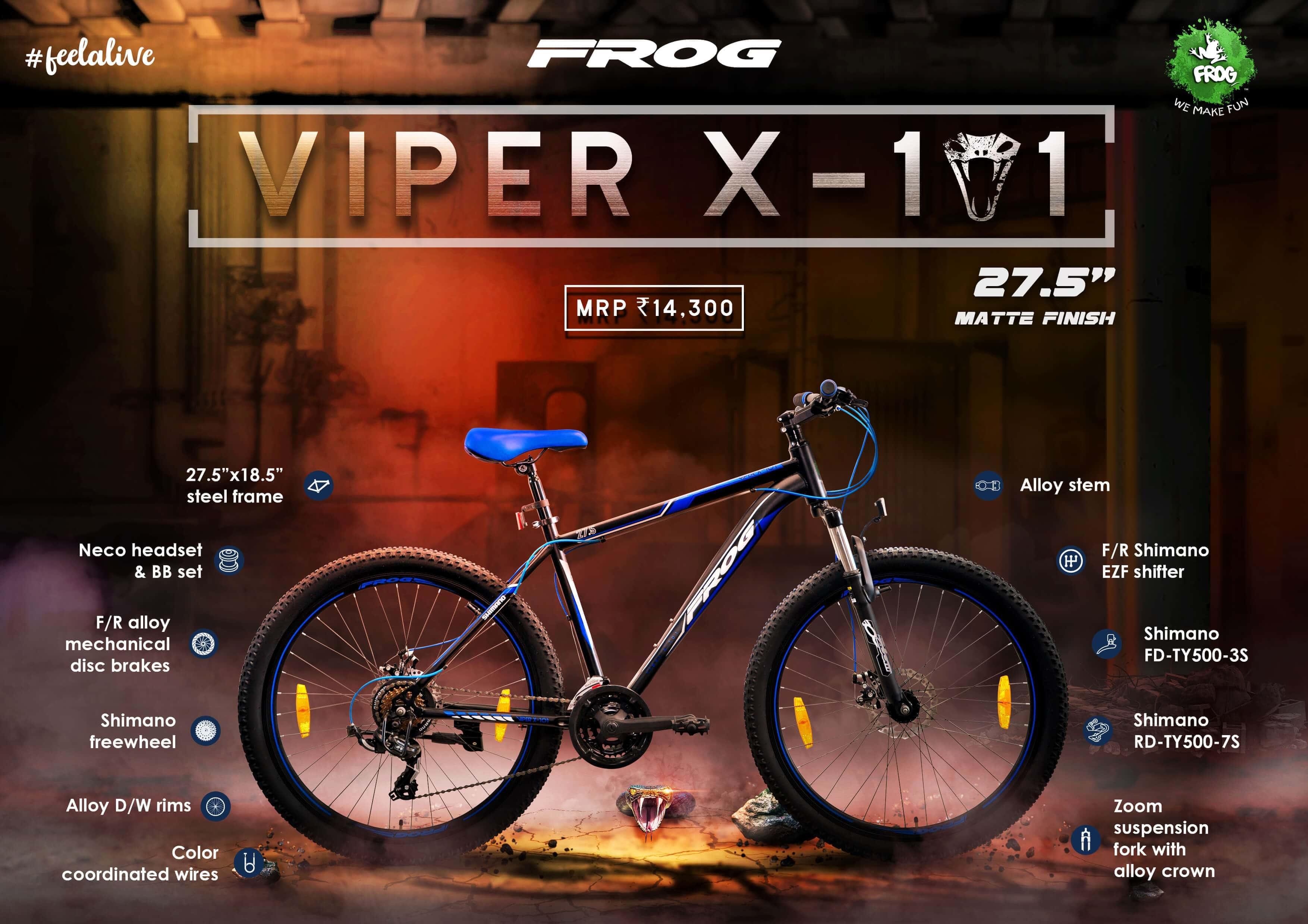 Viper X 101 27 5 Black Blue image 2