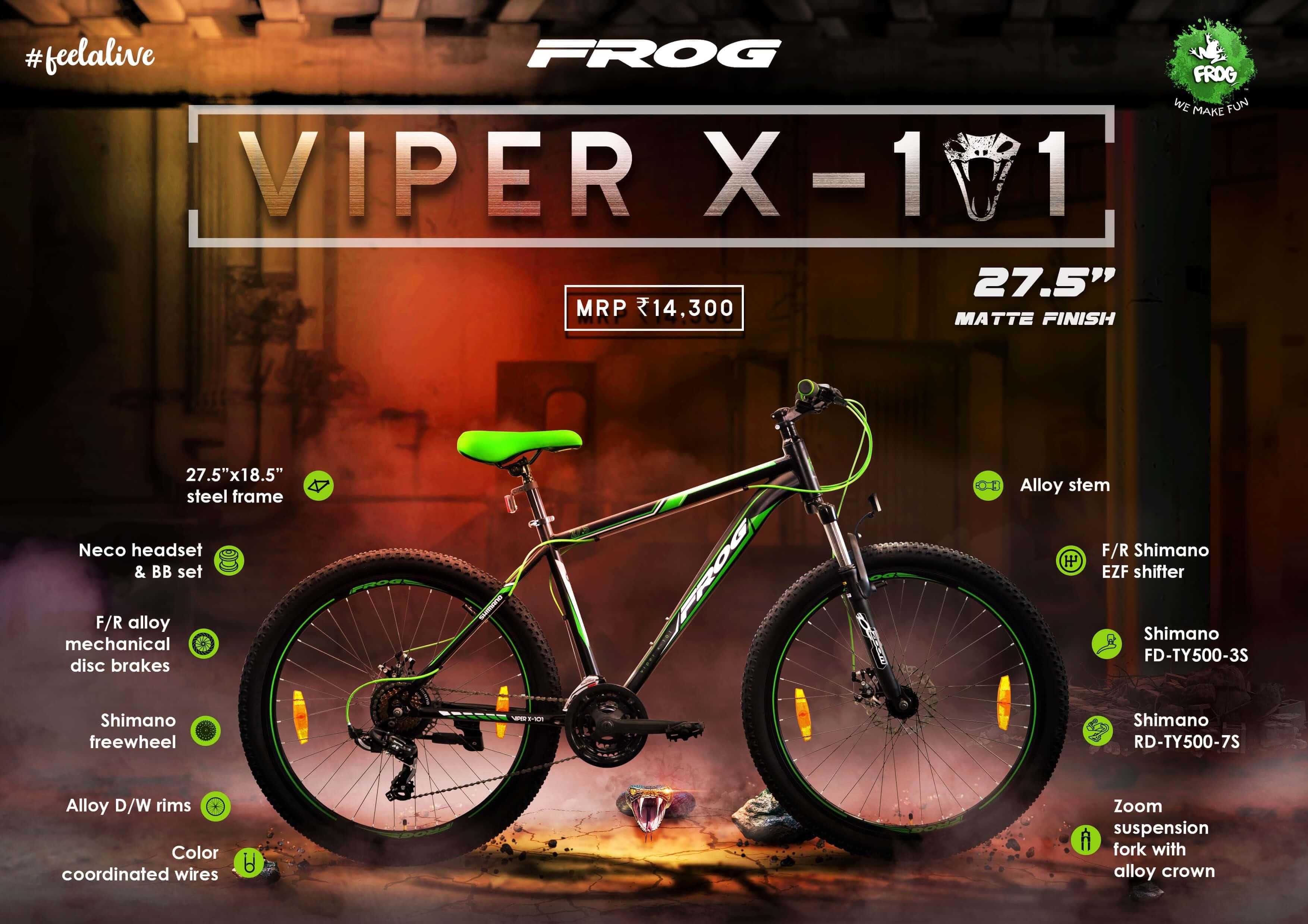 Viper X 101 27 5 Black Green image 2