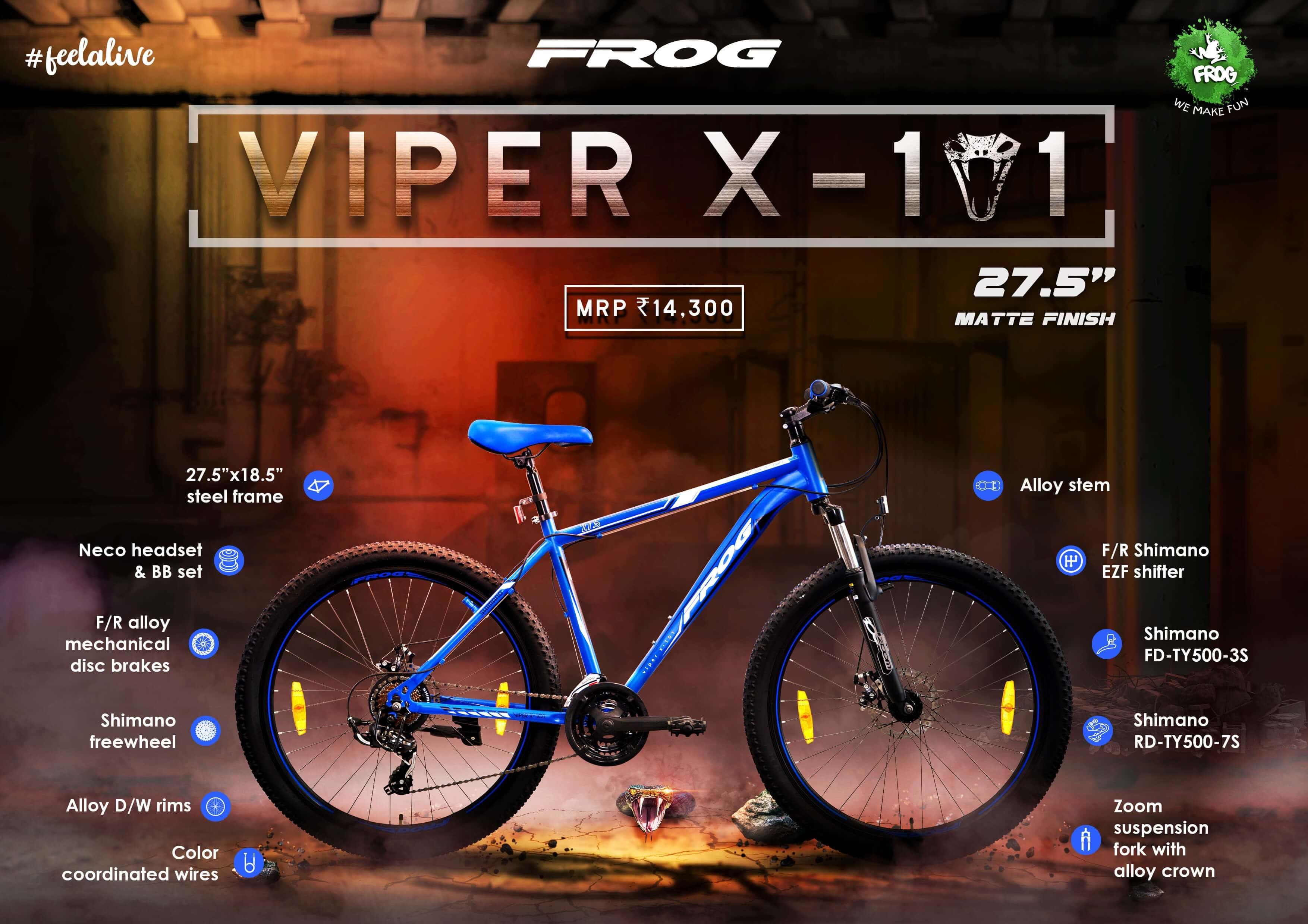 Viper X 101 27 5 Blue White image 2