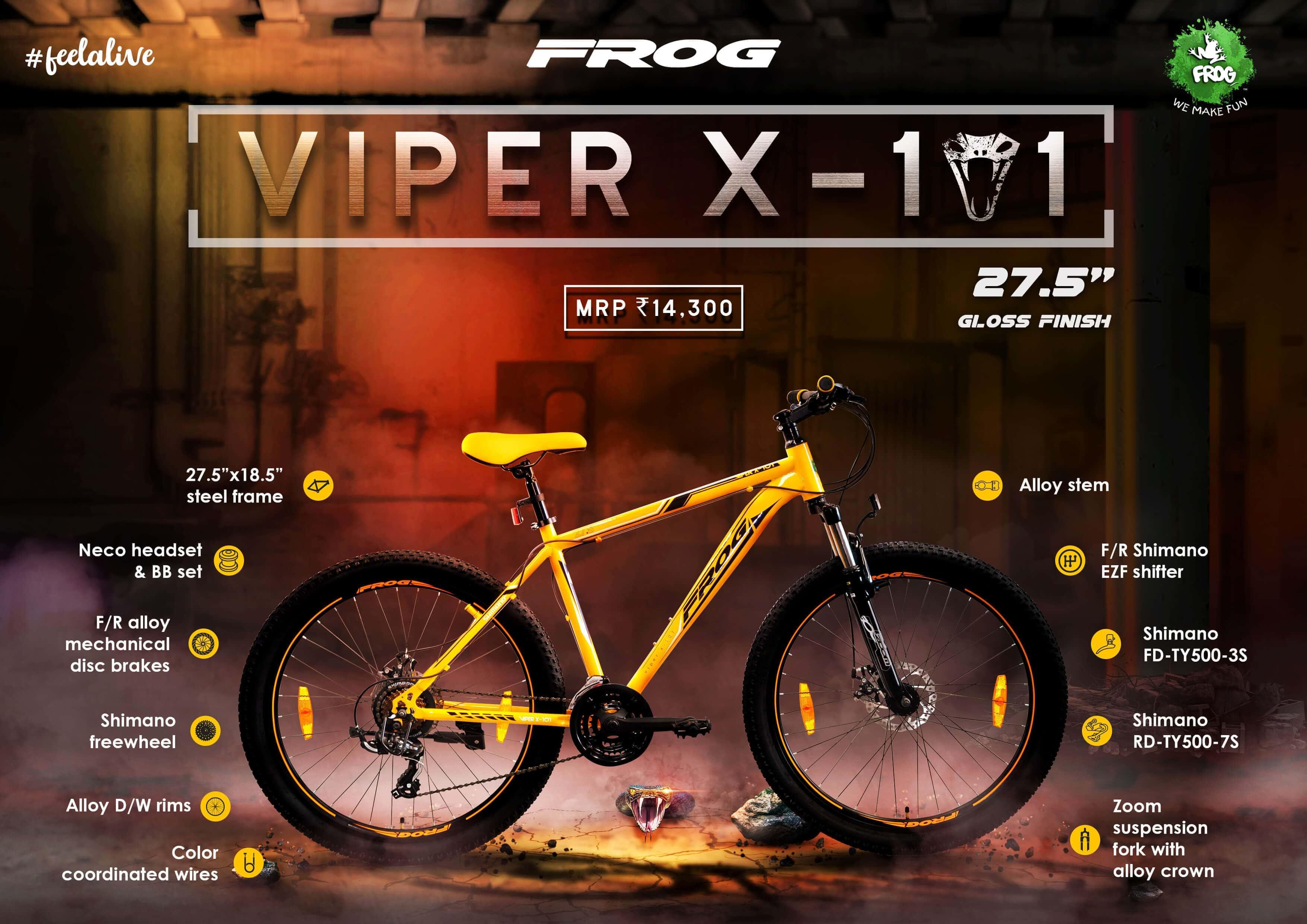 Viper X 101 27 5 Orange Gray image 2