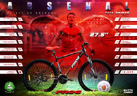 Arsenal 27 5 Gray Red thumbnail image 2
